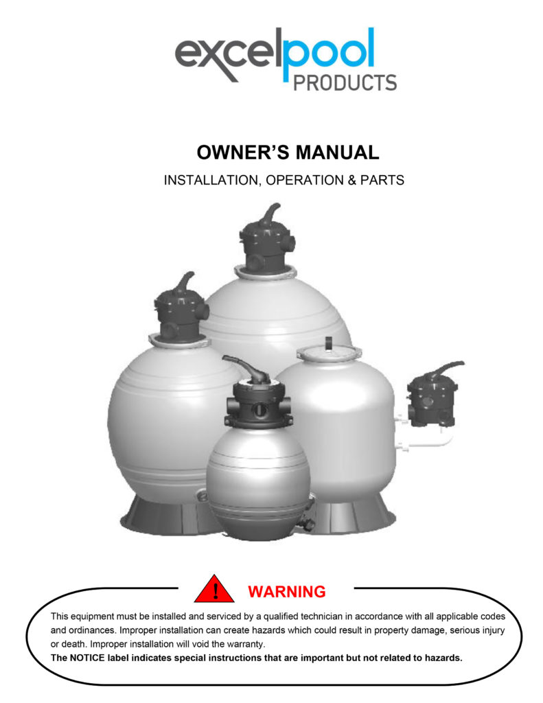 """22"""" Excel 1.5HP Pump and 22"""" Sand Filter"""